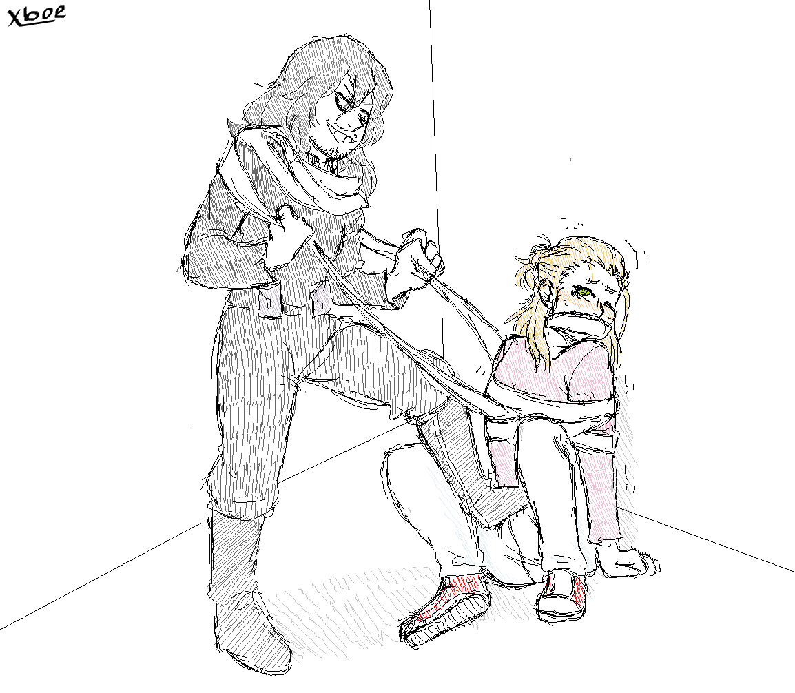 tied gagged sakura and up Foster home for imaginary friends
